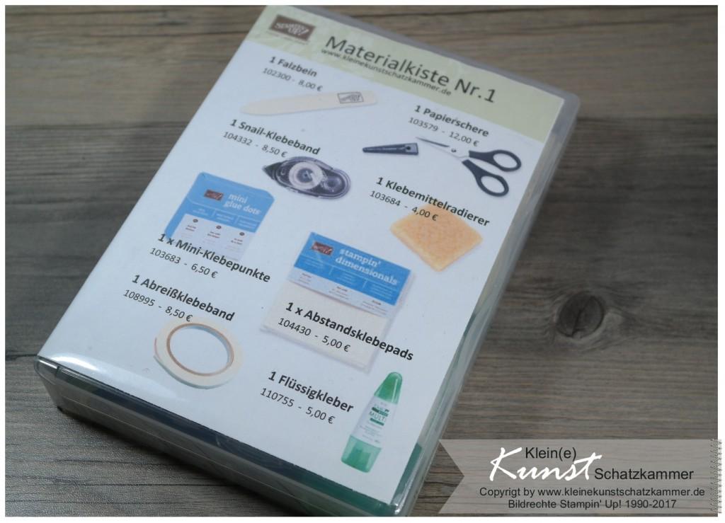 Materialbox Grundausstattung für Bastler und Stempler basteln mit Stempeln