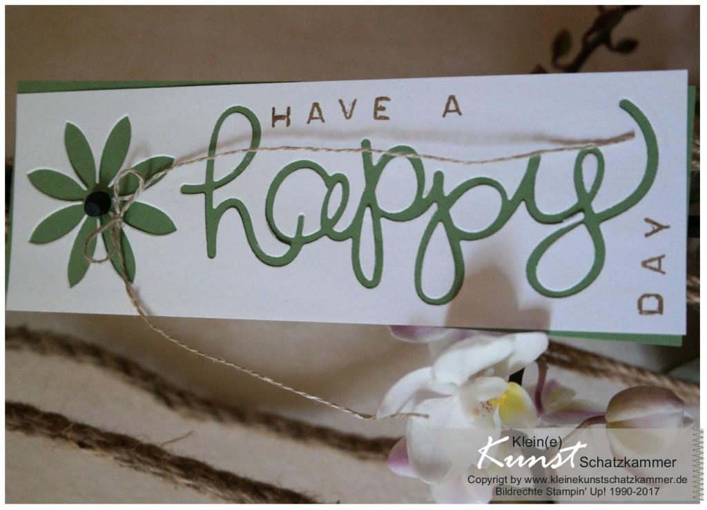 Geschenk Anhänger Happy Day mit Stampin Up Stempelset Labeler Alphabet