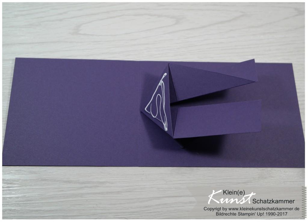 Einladung zur Konfirmation mit Stampinup Papier Aubergine Lila