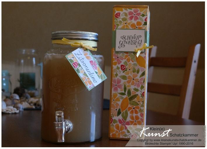 Zum Geburtstag: Selbstgemachte Limonade
