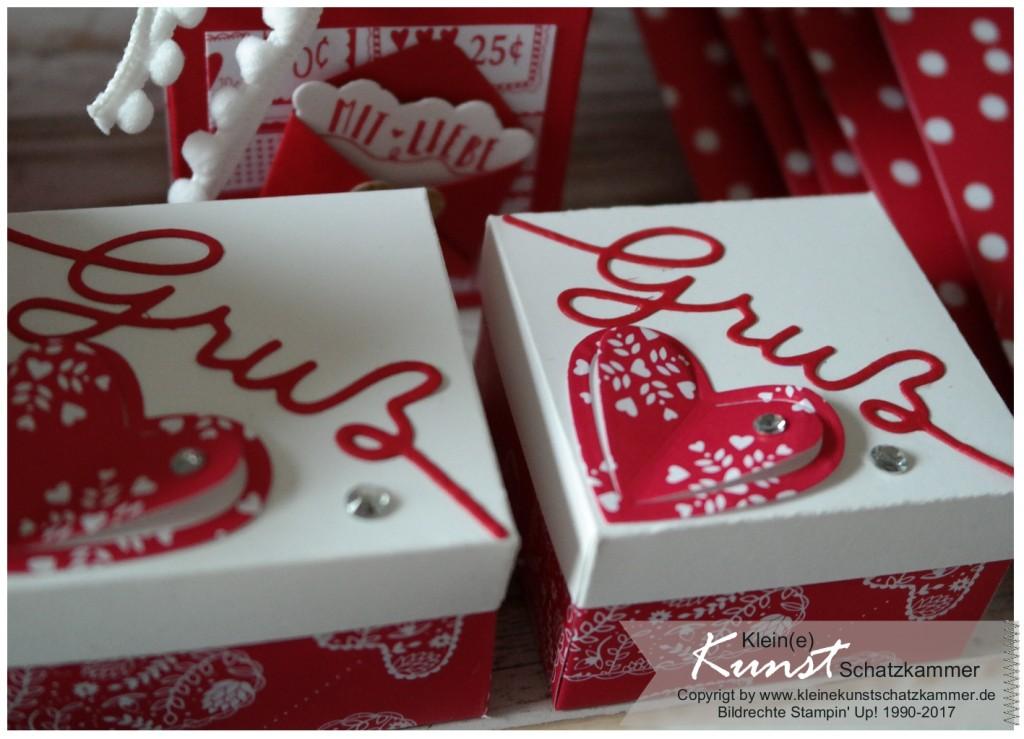Stampin Up Schachtel mit EPB und Gruß und Kuss