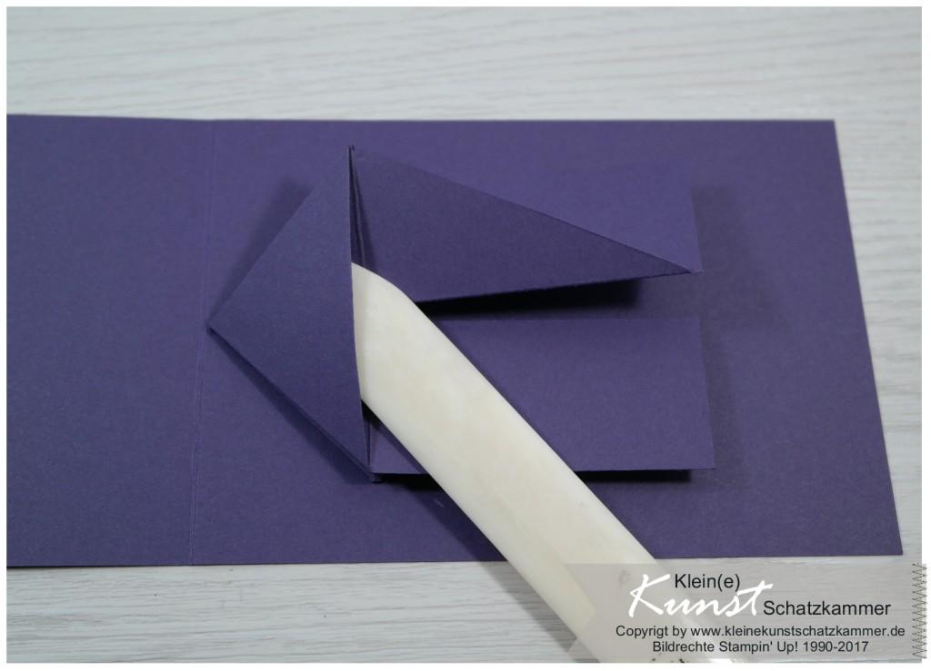 Einladung zur Konfiramtion als Flipkarte mit Stampinup
