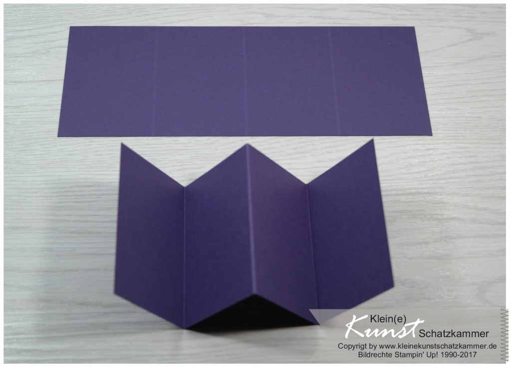 Pop Up Konfirmationskarte Stampin Up Aubergine