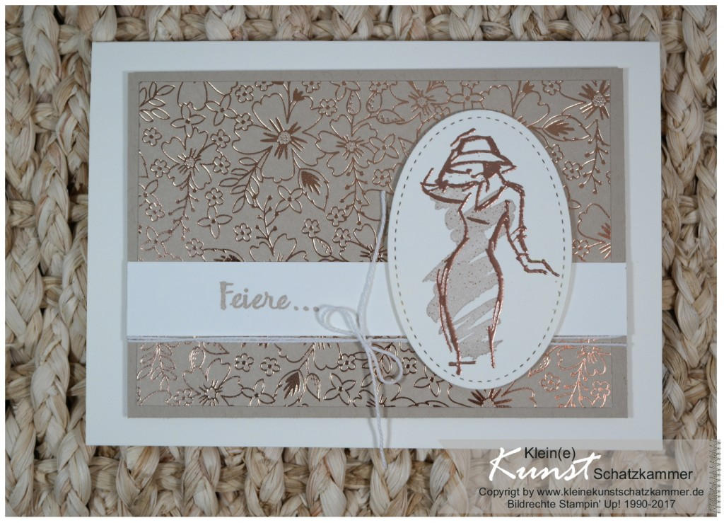 Stampin Up Mit Stil Frau Beautiful you mit Kupfer Embossing
