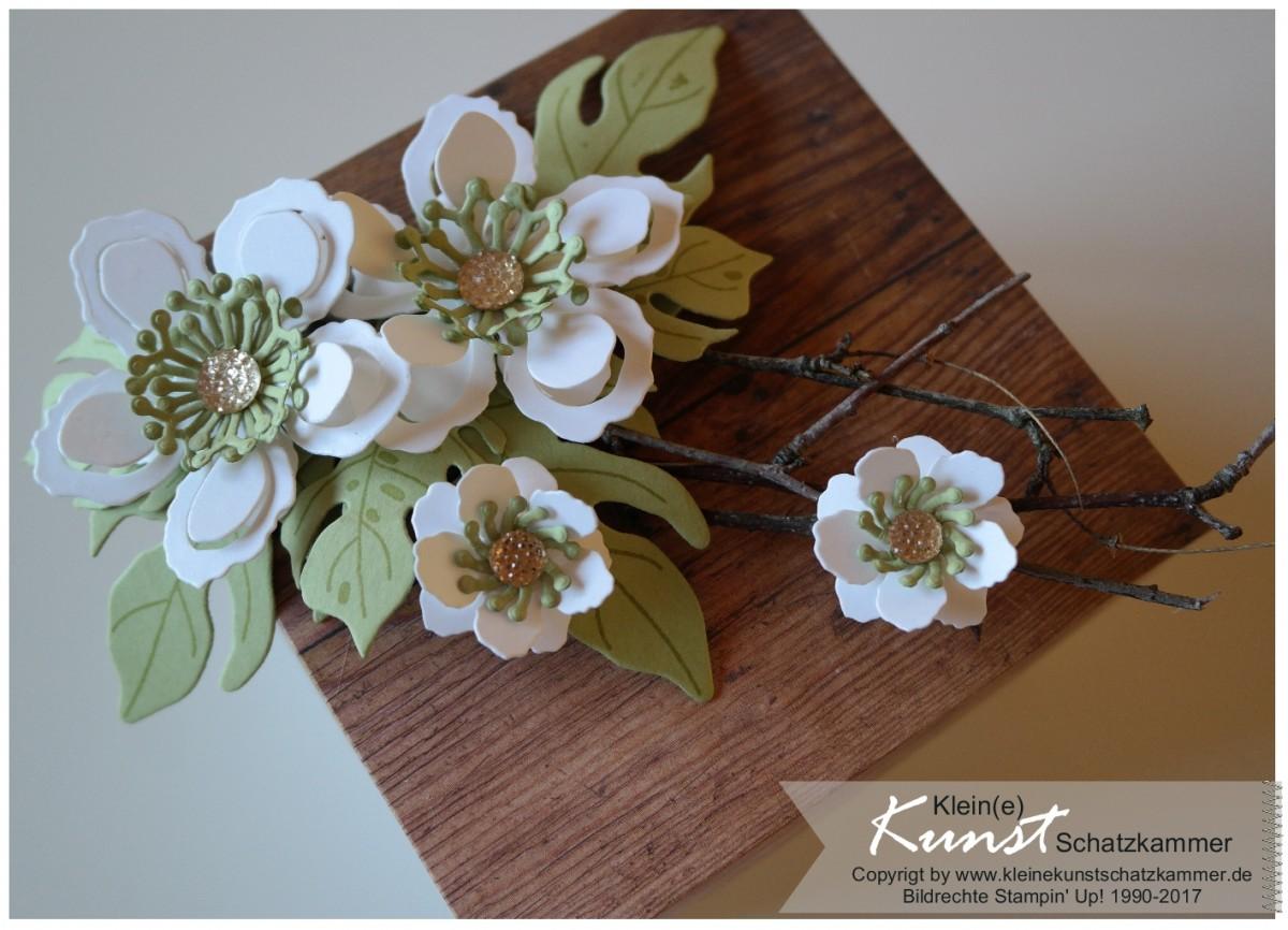 Explosion Box mit Stampin Up Blumen