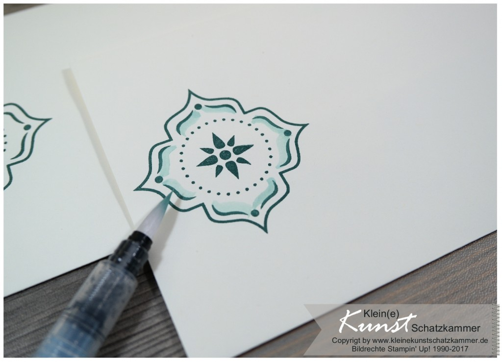 StampinUp Orientpalast Eastern palace Umschlag gestalten mit Stempeln