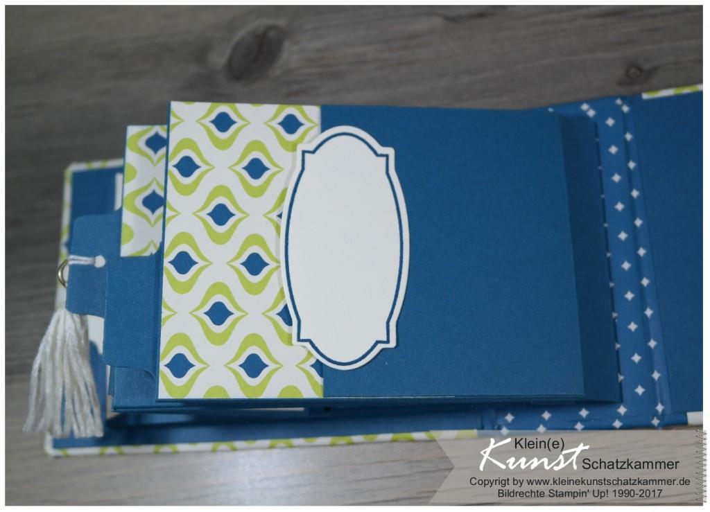 StampinUp Album Mini Fotoalbum für Erinnerungen mit Designerpapier Orientpalast gestaltet
