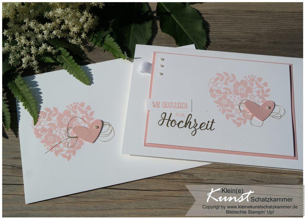 Glückwunsch zur Hochzeit Stempelset Blüten der Liebe von Stampin Up