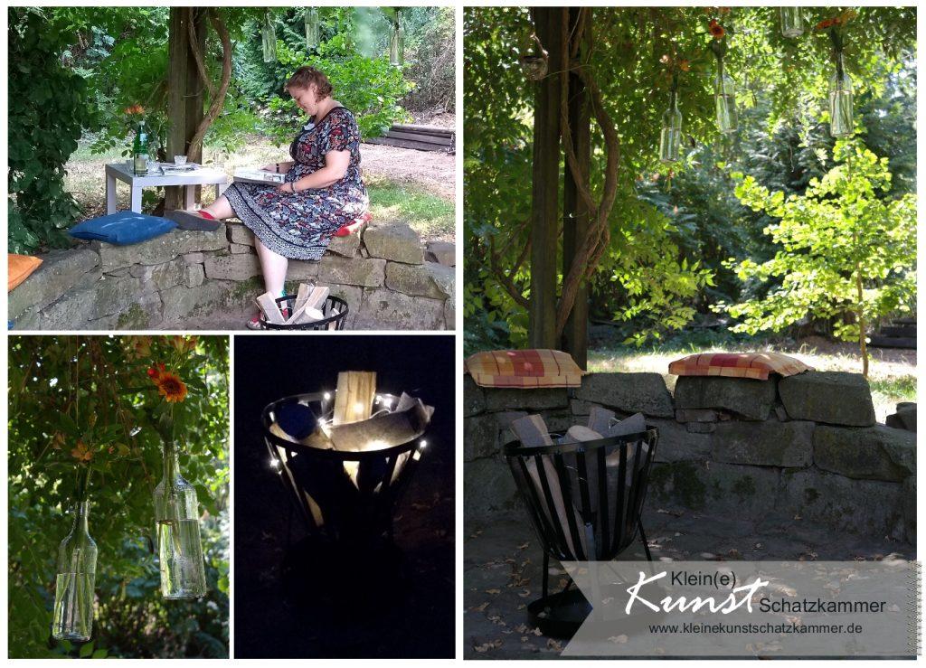 Schnuddelecke im Garten mit Feuerkorb ohne Feuer zum Stampin Up Teamtreffen in der Kunstschatzkammer