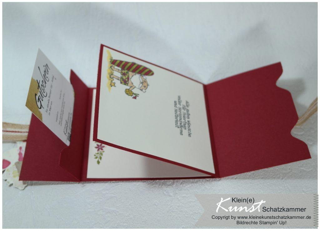 Gutschein Geschenk Karte Weihnachten Stampin Up