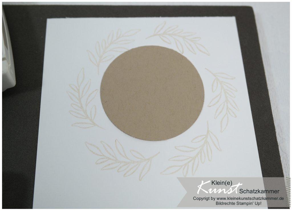 Weihnachtskarte Aquarell ohne Linien mit Stampin Up Stempelset besinnlicher Advent
