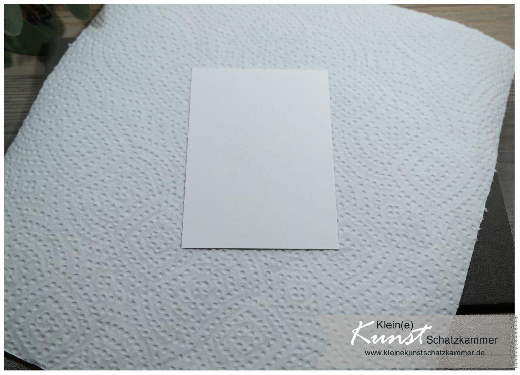 weiß auf weiß gestempelt mit vaseline