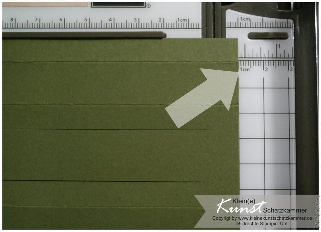 SU Papierschneider Handhabung Teelichtkarte basteln