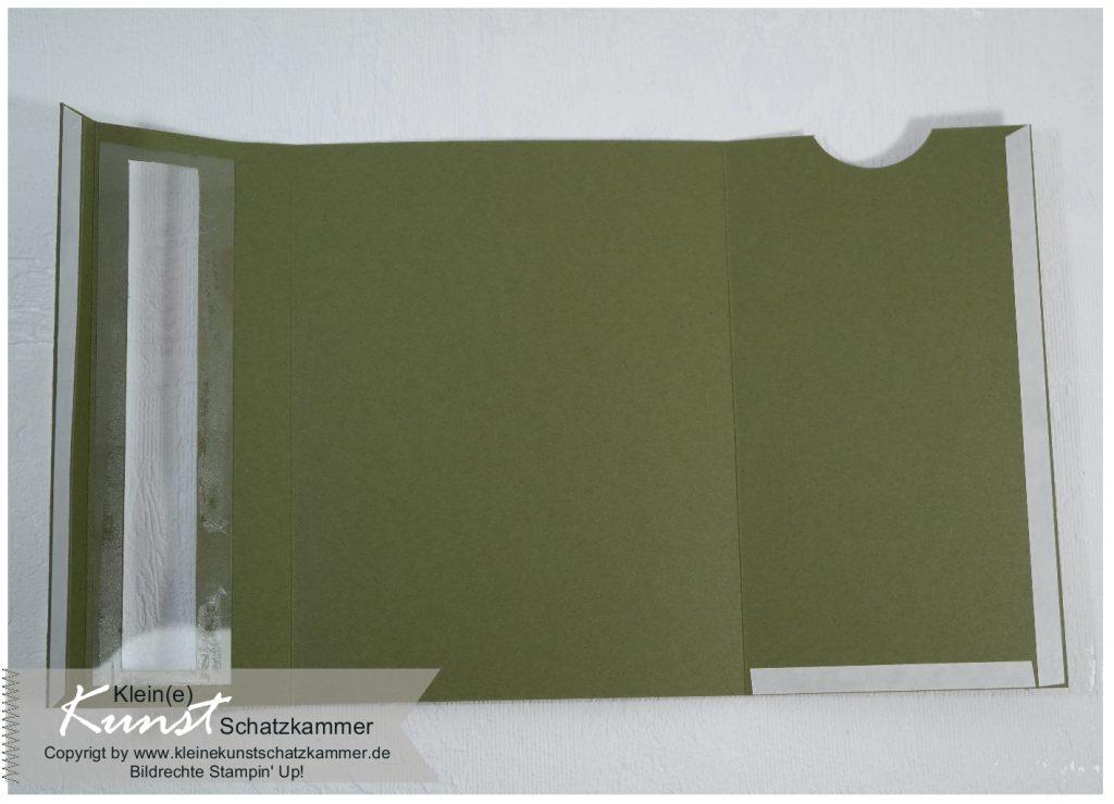 Teelichtkarte basteln mit Stempeln von Stampin Up