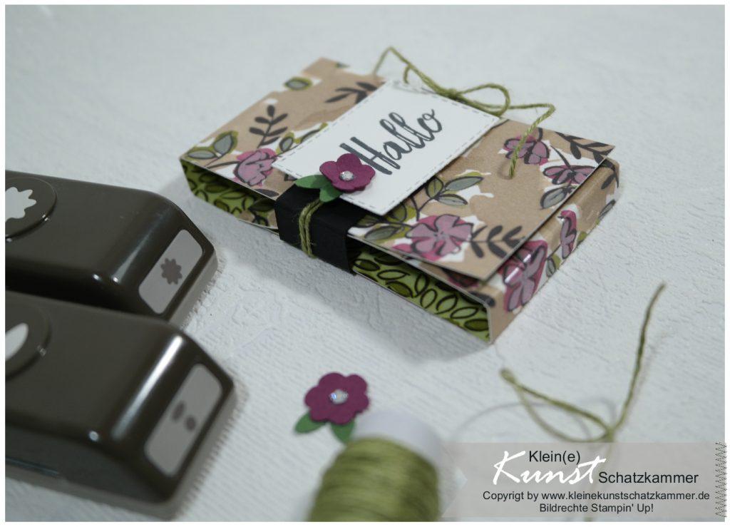 Stampin Up Itty Bitty Blumen Blümchen Flowers Punch Stanzen Gastgeschenk Schokolade Verpackung