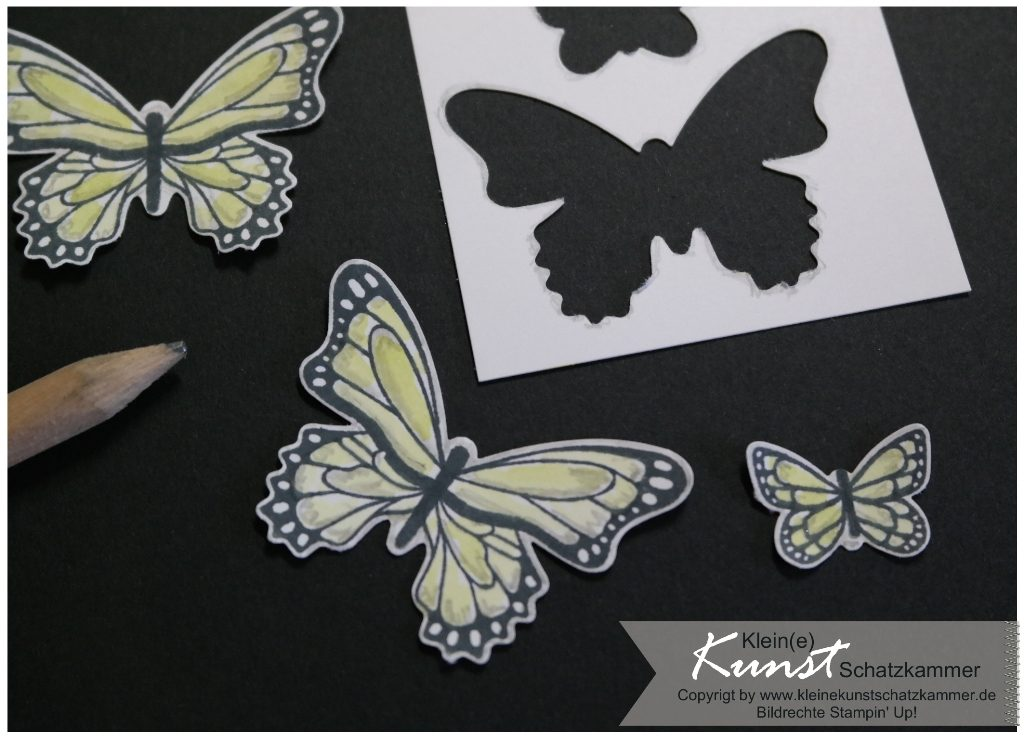 StampinUp Schmetterlingsglück Schmetterling butterfly circle card Stanze