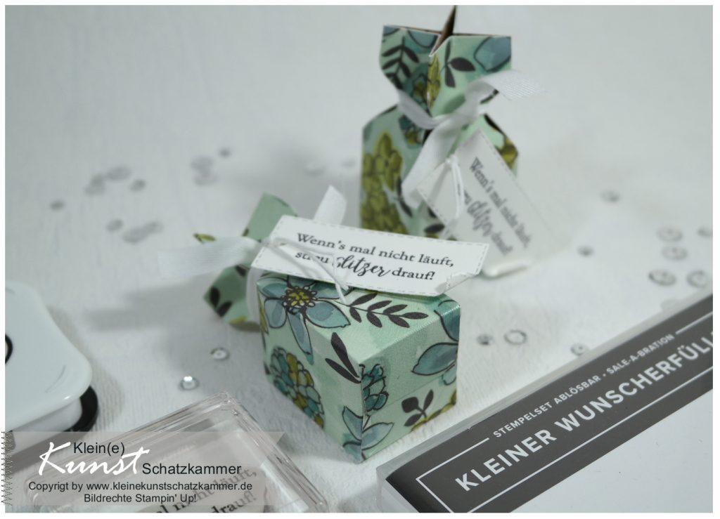 Knallbonbon Verpackung Box mini für Konfirmation und Kommunion Hochzeit und Taufe basteln Anleitung