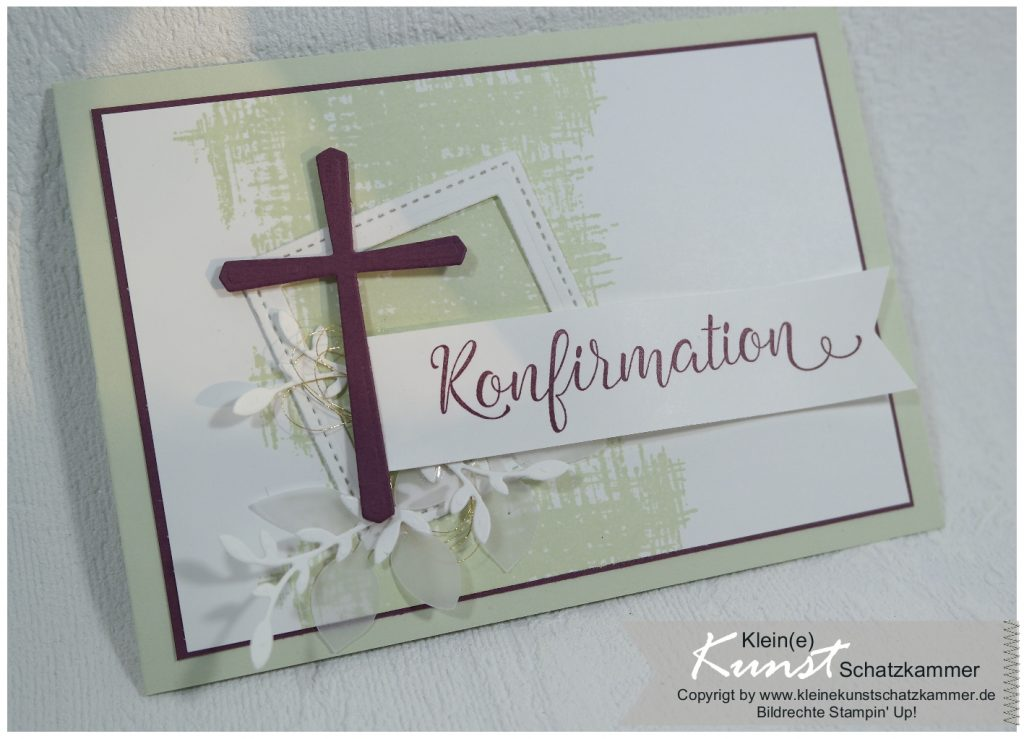 Glückwunsch Karte zur Konfirmation mit dem Stampin Up Stempelset Segensfeste