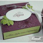 Geschenk zum Muttertag basteln selbstgemacht diy Mothers day Gutschein Schachtel