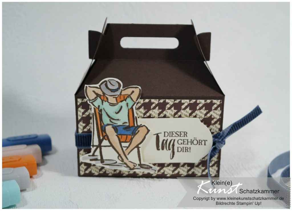Gable Box mit dem Stempel Set Mannomann von Stampin Up basteln mit Anleitung