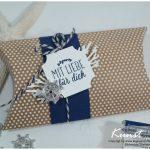 Pillowbox Meer der Möglichkeiten Marine Blau
