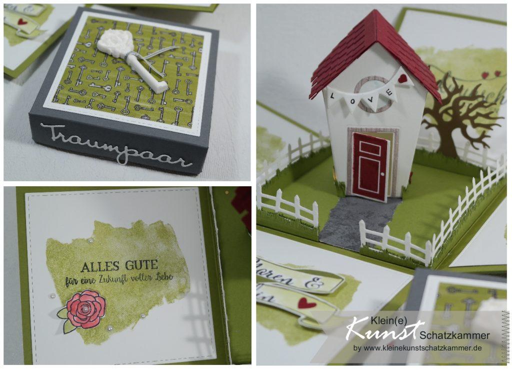 Geschenk Schachtel für Geld Geschenk zur Hochzeit Verpackung mit Haus und Garten basteln