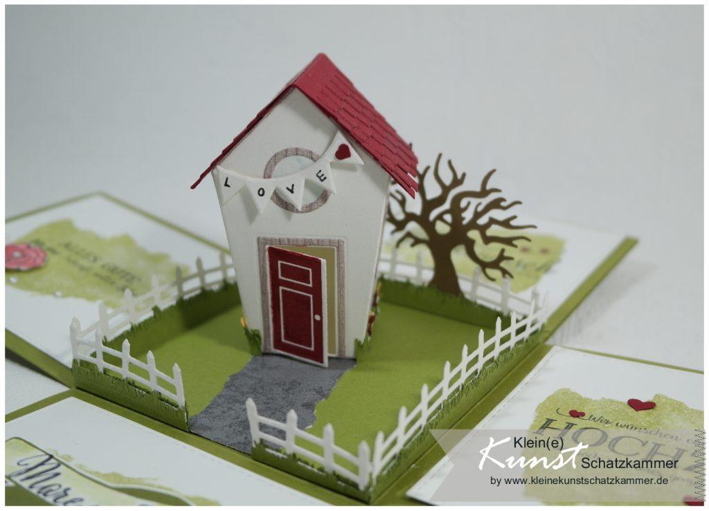 Geldgeschenk zur Hochzeit slebst basteln Hausbau mit Schlüssel zum Glück von Stampin' Up! Halloween