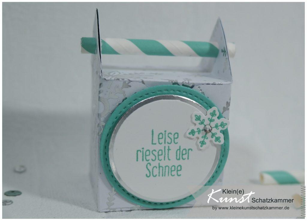 Verpackung Schachtel für Adventskalender basteln mit dem EPB Umschlagbrett und Designer Papier diy