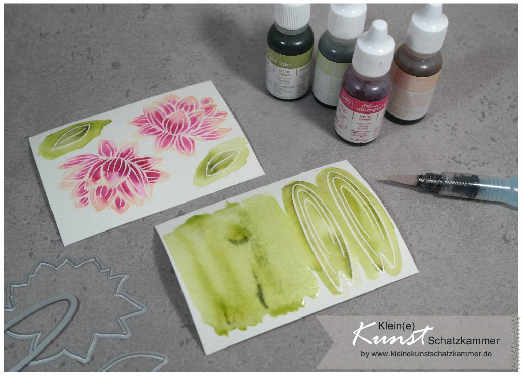 Karte Aquarell Technik BigShot Sale a bration Stampin Up 2020 Lovely lily pad Seerose