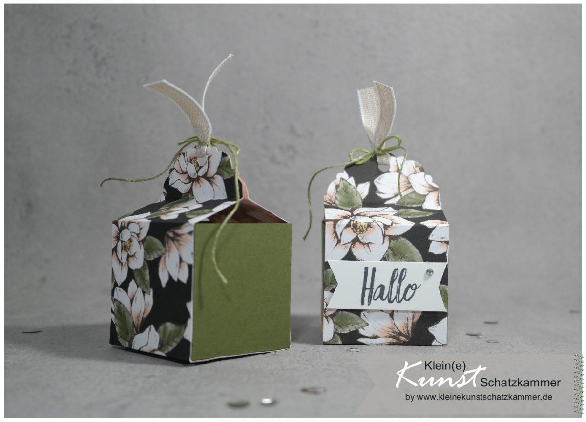 Magnoliengruß – Schachtel schnell und einfach