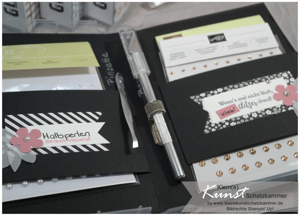 Stempelbox mit Stampin' Up! Glitzerkram