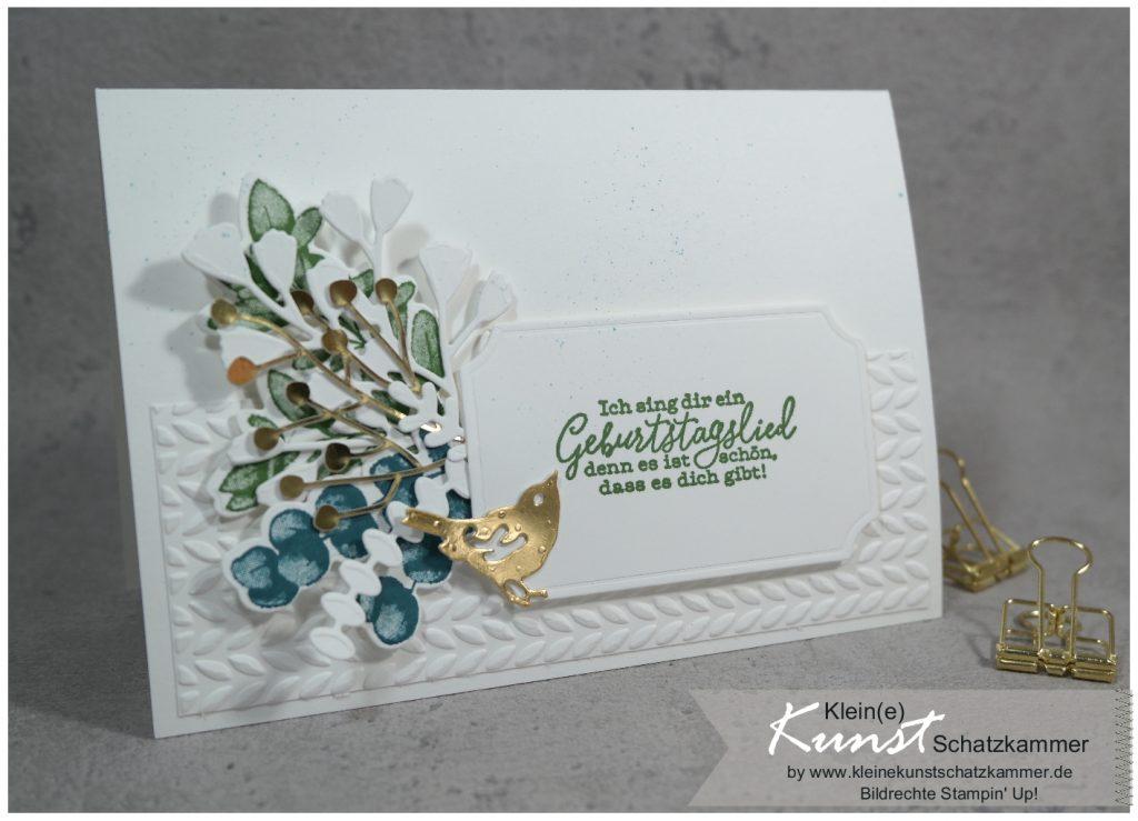 Geburtstagskarte mit Stampin Up frei wie ein Vogel
